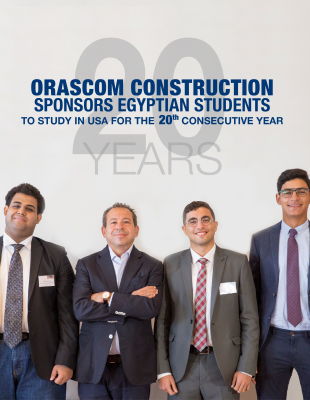 Orascom Construction Sponsors Egypt's Brightest Students to Study at Top USA Universities for the Twentieth Constructive Year